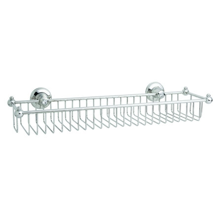 KN6230 WIDE WIRE SHOWER RACK CRYSTAL DECOR